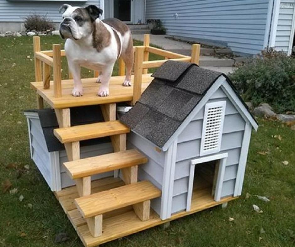 Будка для собаки из дерева