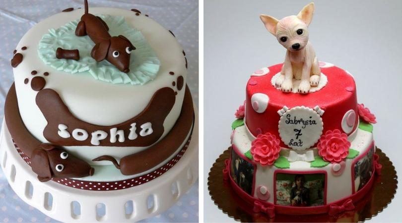 Собачка на торте