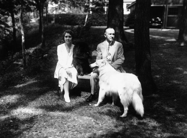 Президент Калвин Кулидж и его собаки