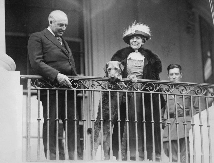 Президент Уоррен Гардинг и его собака