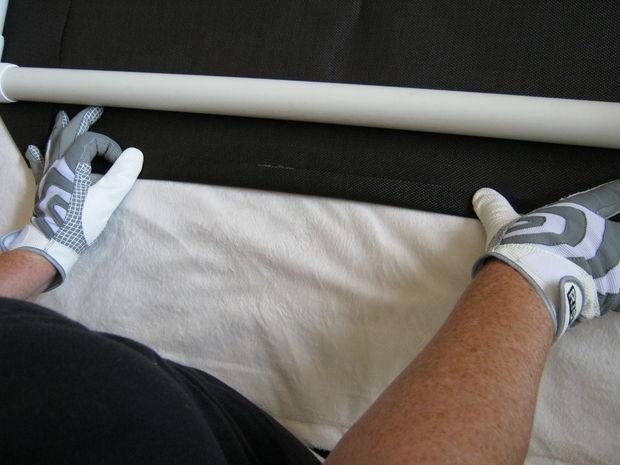 Лежак из пвх труб