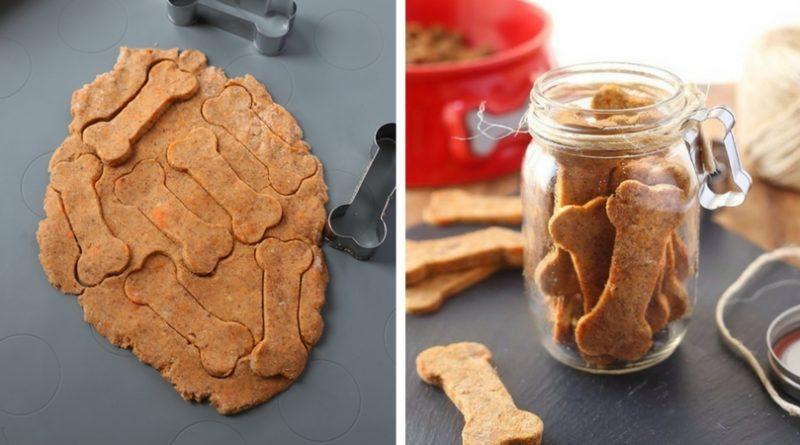 Печенье для собак с курагой