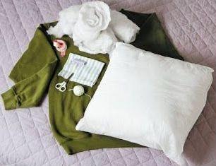 Лежак для собаки из свитера