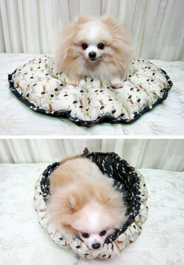 Как сшить лежак для собаки