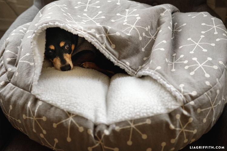 Круглый лежак для собаки