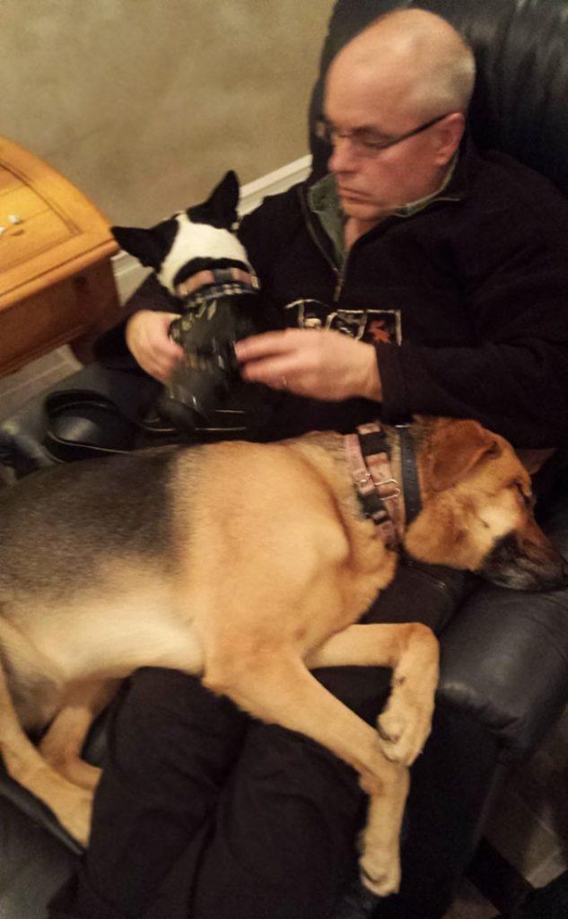 Папа и собака