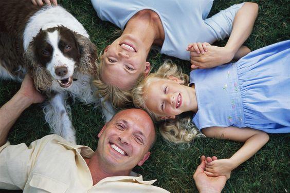 Семейное фото с собакой
