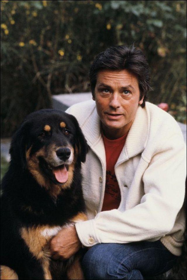 Ален Делон и его собаки