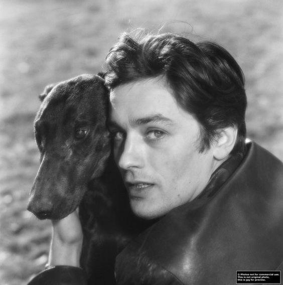 Ален Делон и собака