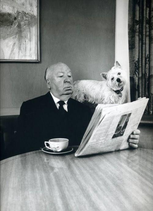 Альфред Хичкок и собака
