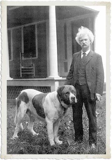 Марк Твен и собака
