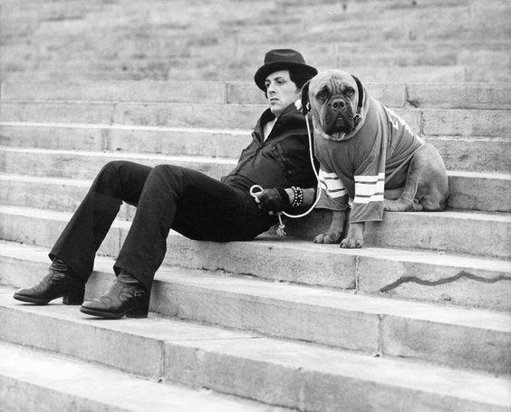 Сильвестр Сталлоне и его пес