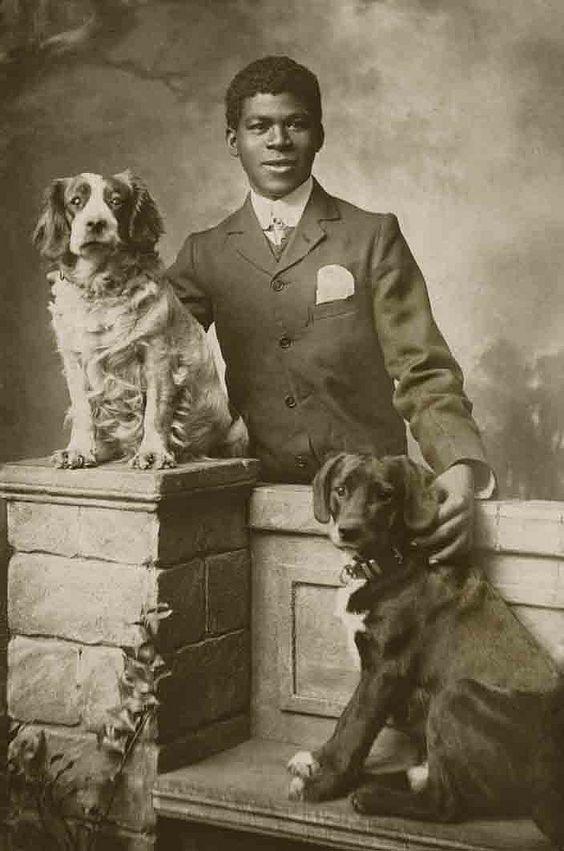 Собаки на ретро фотографиях