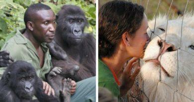 Люди и спасенные животные